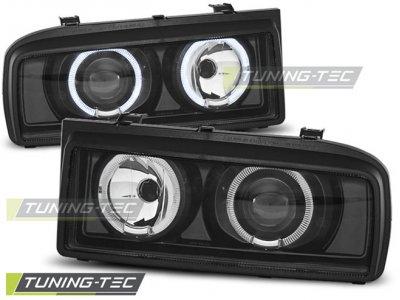 Фары передние Angel Eyes Black от Tuning-Tec на Volkswagen Corrado