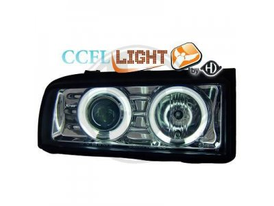 Фары передние CCFL Angel Eyes Chrome от HD на Volkswagen Corrado