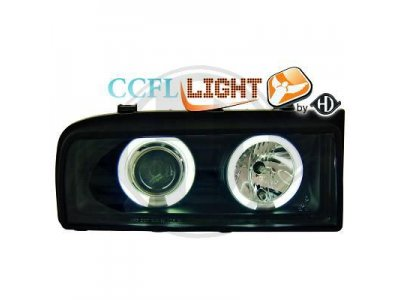 Фары передние CCFL Angel Eyes Black от HD на Volkswagen Corrado