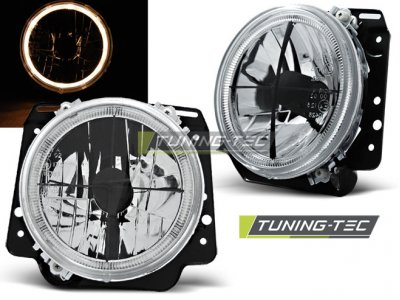 Передние фары Angel Eyes  Black от Tuning-Tec на Volkswagen Golf II