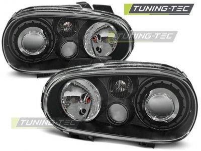 Фары передние Black R32 Look от Tuning-Tec на VW Golf IV