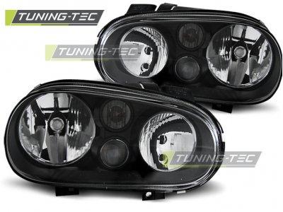 Фары передние Black от Tuning-Tec на VW Golf IV