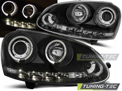 Фары передние LED Angel Eyes Black от Tuning-Tec на Volkswagen Golf V