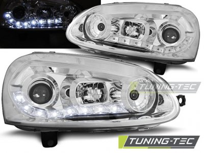 Фары передние Daylight Chrome от Tuning-Tec на Volkswagen Golf V