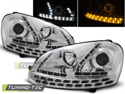 Фары передние Daylight Chrome Full LED от Tuning-Tec на Volkswagen Golf V
