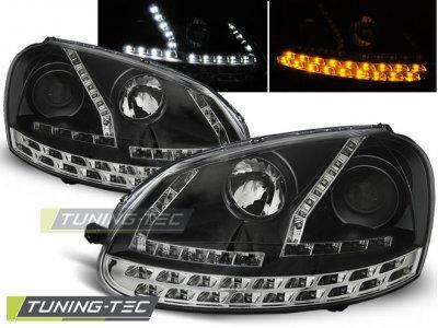 Фары передние Daylight Black Full LED от Tuning-Tec на Volkswagen Golf V
