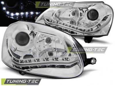 Фары передние Devil Eyes Chrome от Tuning-Tec на Volkswagen Golf V