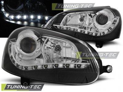 Фары передние Devil Eyes Black от Tuning-Tec на Volkswagen Golf V