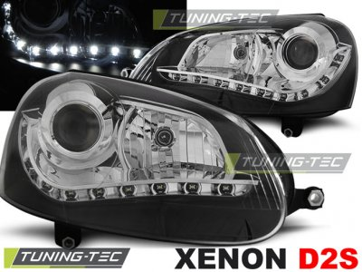 Фары передние Devil Eyes Black от Tuning-Tec на Volkswagen Golf V XENON