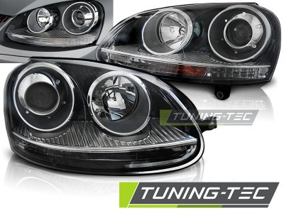 Фары передние GTI Look Black от Tuning-Tec на Volkswagen Golf V
