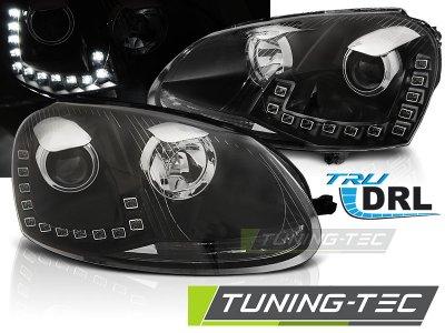 Фары передние Devil Eyes Black на Volkswagen Golf V