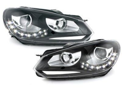 Фары передние R-Look Black на Volkswagen Golf VI