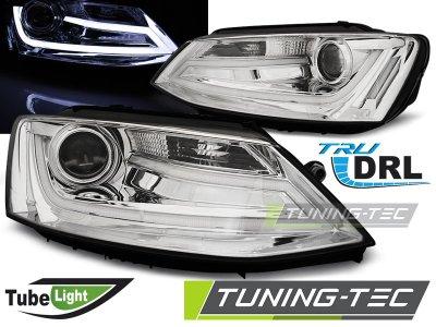 Фары передние Tube Light Chrome на Volkswagen Jetta VI