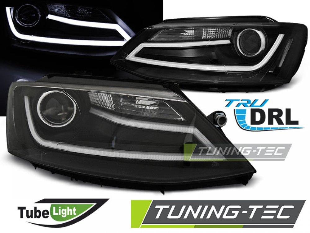 Фары передние Tube Light Black на Volkswagen Jetta VI