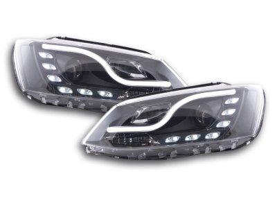 Фары передние Devil Eyes Black на VW Jetta VI