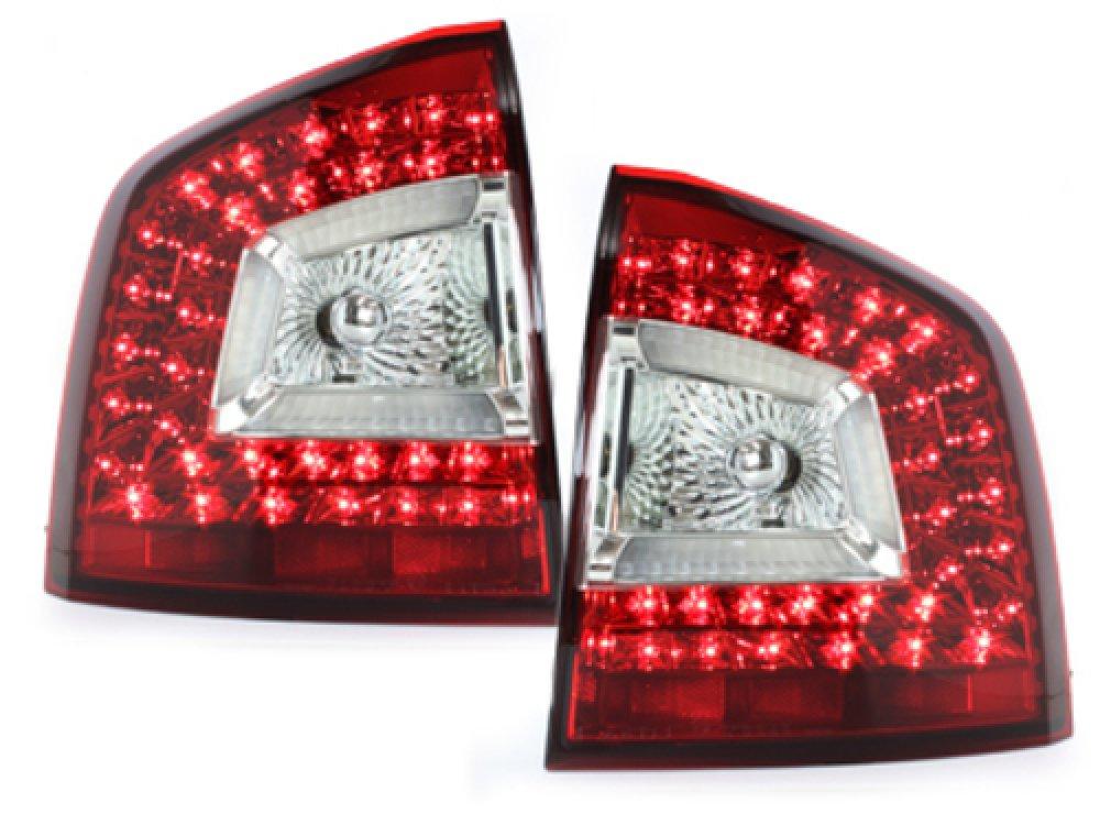 Задние фонари динамические LED Red Crystal на Skoda Octavia II 1Z Combi