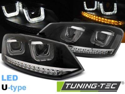Фары передние U-Type LED Black на Volkswagen Polo 6R