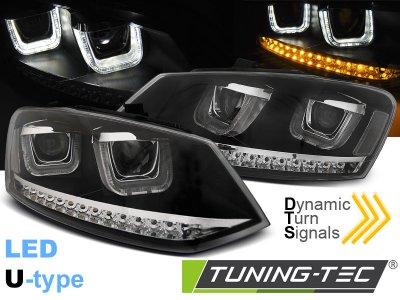 Фары передние Dynamic Turn LED Black на Volkswagen Polo 6R