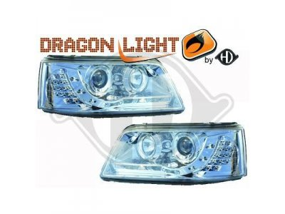 Фары передние Dragon Light Chrome на Volkswagen T5