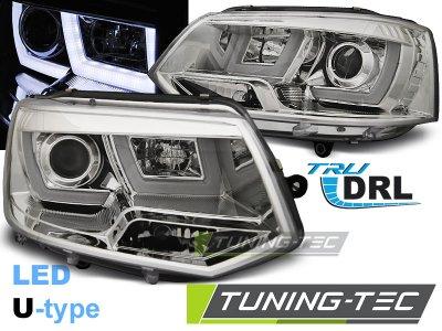 Фары передние U-Type Eyes Chrome на Volkswagen T5 рестайл