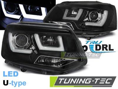 Фары передние U-Type Eyes Black на Volkswagen T5 рестайл