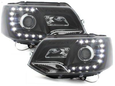 Фары передние Dlite Black Var2 на Volkswagen T5 рестайл