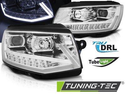 Фары передние Tube Light Chrome на Volkswagen T6