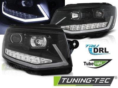 Фары передние Tube Light Black на Volkswagen T6