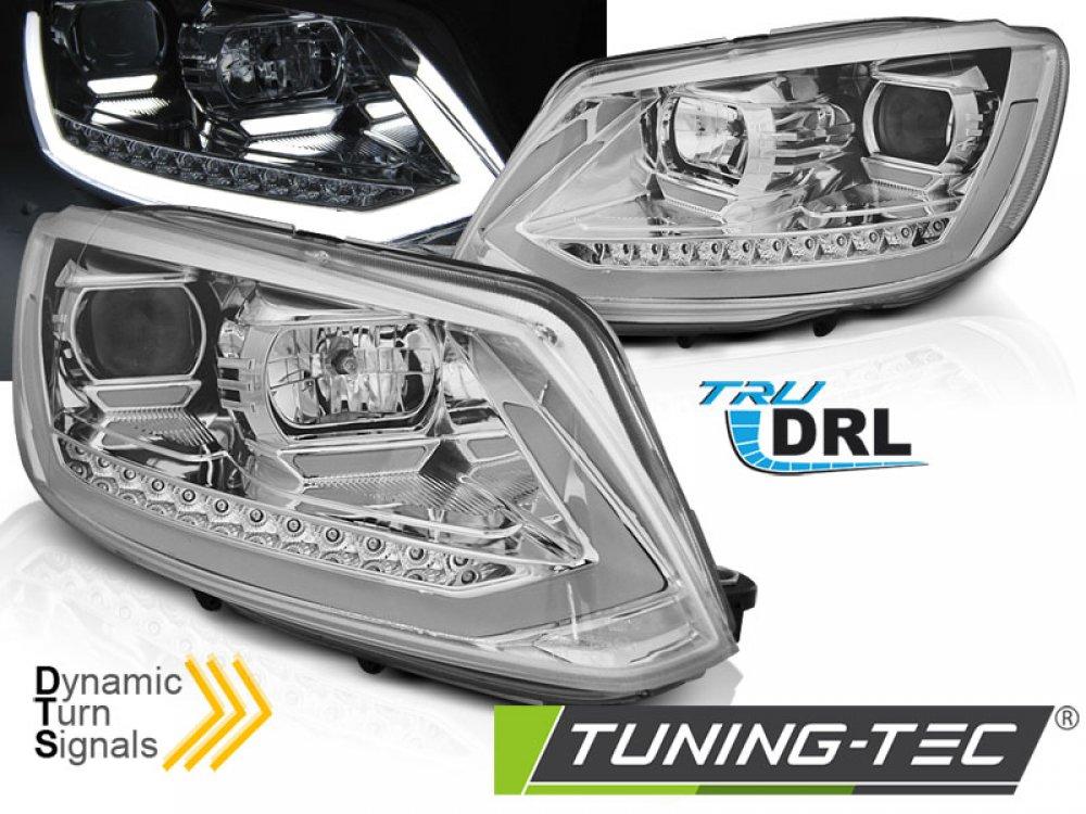 Фары передние Tube Light динамические хром на Volkswagen Touran I