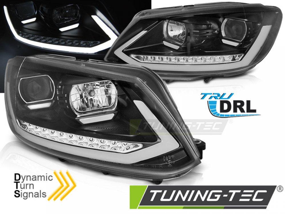 Передняя альтернативная оптика Tube Light динамические на Volkswagen Touran I