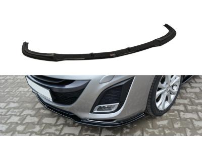 Накладка на передний бампер от Maxton Design для Mazda 3 Sport BL