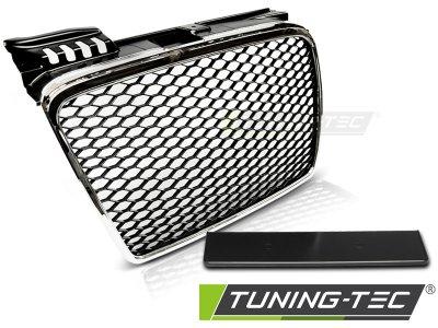 Решётка радиатора от Tuning-Tec Black Chrome RS Style на Audi A4 B7