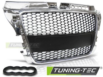 Решётка радиатора от Tuning-Tec Black Chrome RS-Style на Audi A3 8P New