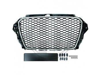 Решётка радиатора RS3 Look от HD Black Chrome на Audi A3 8V