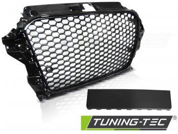 Решётка радиатора Glossy Black RS3 Look от Tuning-Tec под датчики парковки на Audi A3 8V