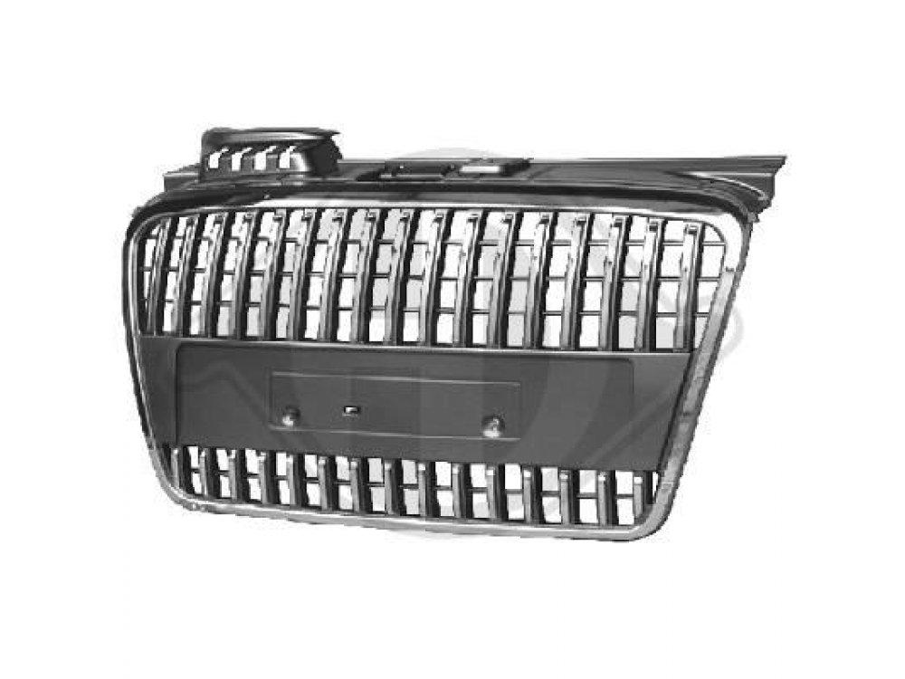 Решётка радиатора от HD Black Chrome S-Line Style на Audi A4 B7