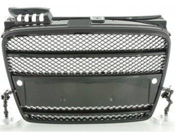 Решётка радиатора от FK Automotive Black под парктроники на Audi A4 B7