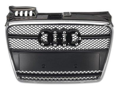 Решётка радиатора от FK Automotive Black Chrome под кольца на Audi A4 B7