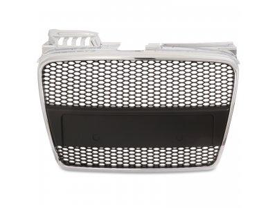 Решётка радиатора от JOM Black Chrome RS4 Look на Audi A4 B7