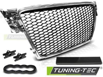 Решётка радиатора от Tuning-Tec Black Chrome RS Look на Audi A4 B8