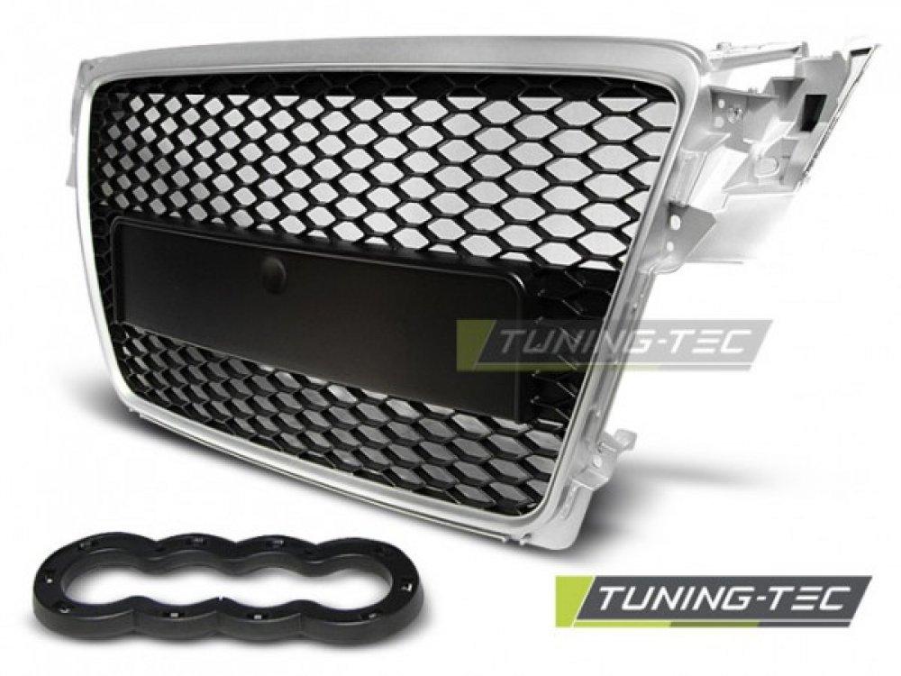 Решётка радиатора от Tuning-Tec Black Silver RS Look на Audi A4 B8
