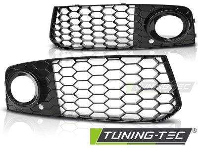 Решётки под ПТФ от Tuning-Tec Glossy Black RS Look для Audi A4 B8