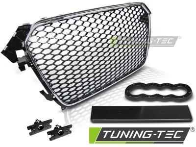 Решётка радиатора от Tuning-Tec Chrome RS Look на Audi A4 B8 рестайл