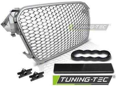 Решётка радиатора от Tuning-Tec Silver RS Look на Audi A4 B8 рестайл