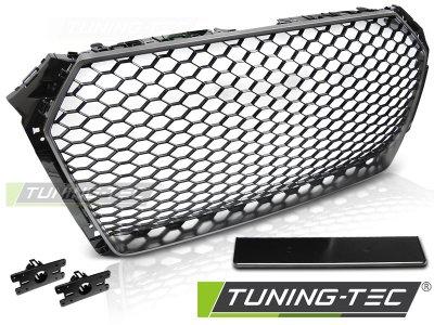Решётка радиатора от Tuning-Tec Matt Black Silver RS Look на Audi A4 B9