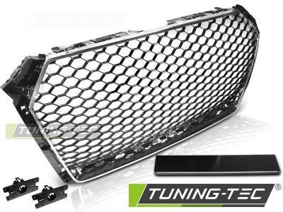 Решётка радиатора от Tuning-Tec Black Silver RS Look на Audi A4 B9