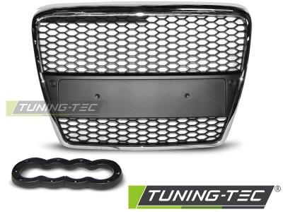 Решётка радиатора от Tuning-Tec RS Look Black Chrome на Audi A6 C6