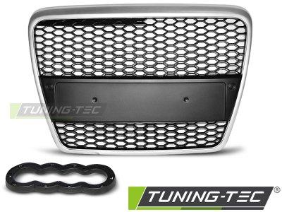 Решётка радиатора от Tuning-Tec RS Look Black Silver на Audi A6 C6