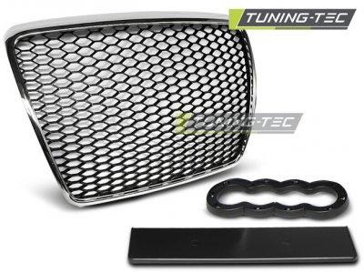 Решётка радиатора от Tuning-Tec RS Look Black Chrome на Audi A6 C6 рестайл