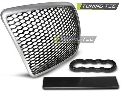 Решётка радиатора от Tuning-Tec RS Look Black Silver на Audi A6 C6 рестайл